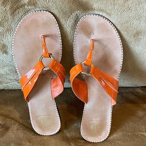Lilly Pulitzer Patent Leather Thongs